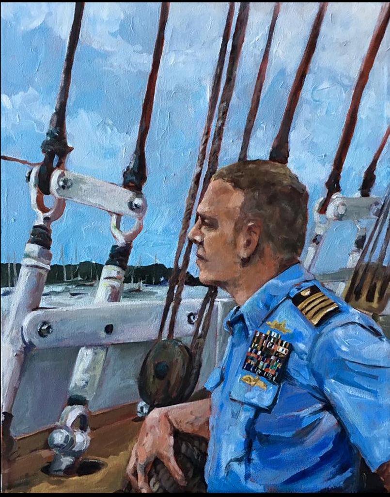 Portrait of Capt. Matthew Meilstrup, captain of the USCG Barque Eagle