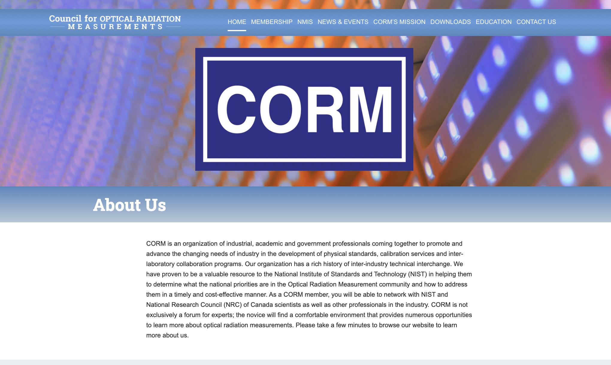 CORM Home Page
