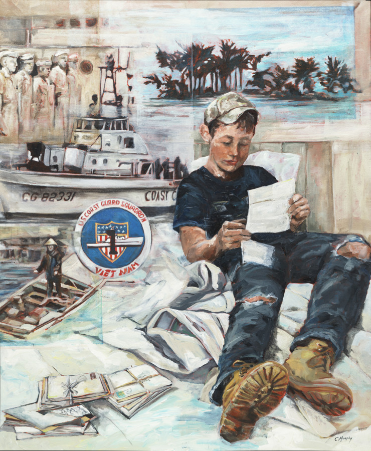 A young man reads of his grandfather's experiences in the USCG during the Vietnam War Collection of the United States Coast Guard Academy