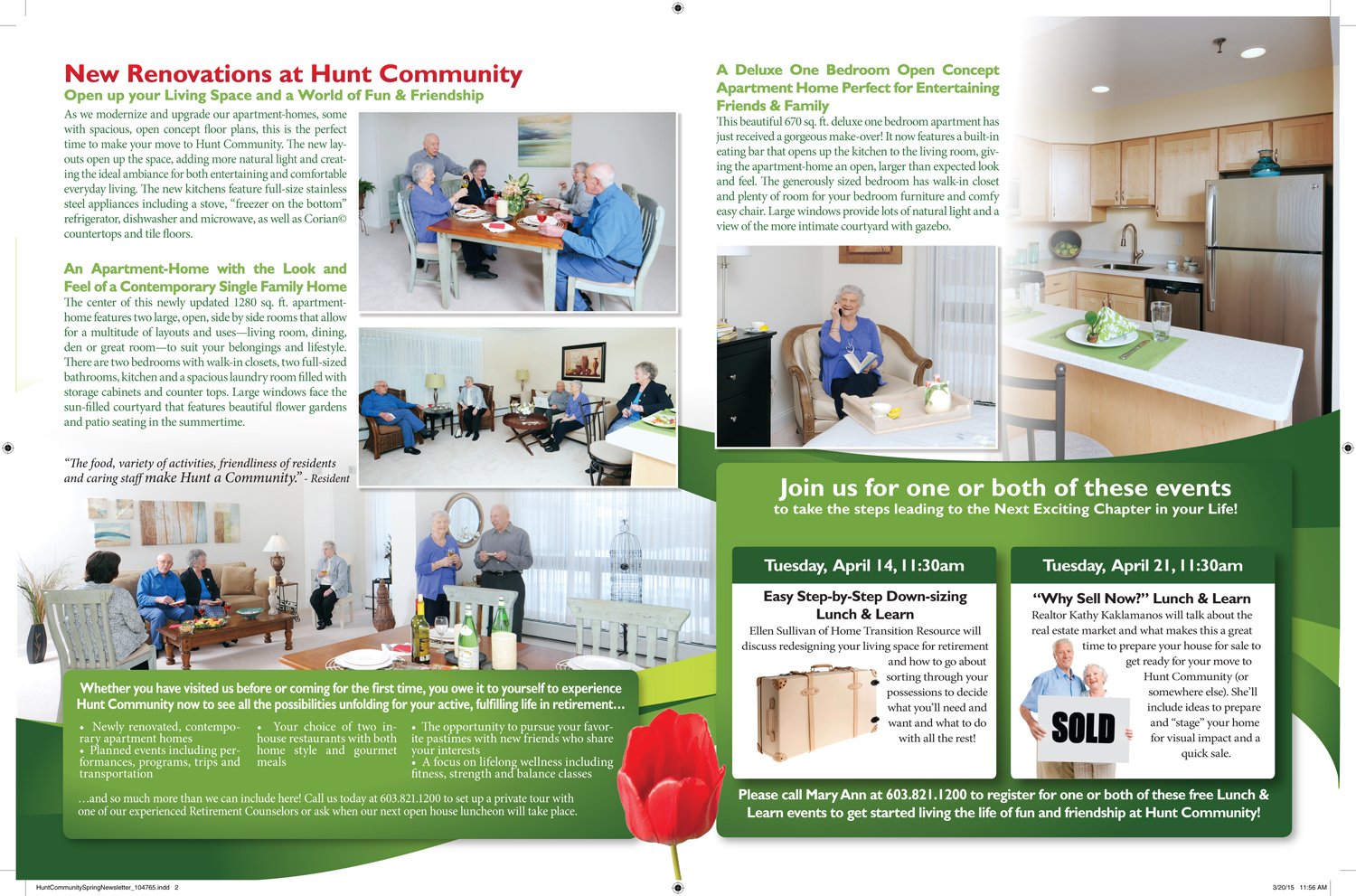Hunt Community Spring Newsletter (interior)