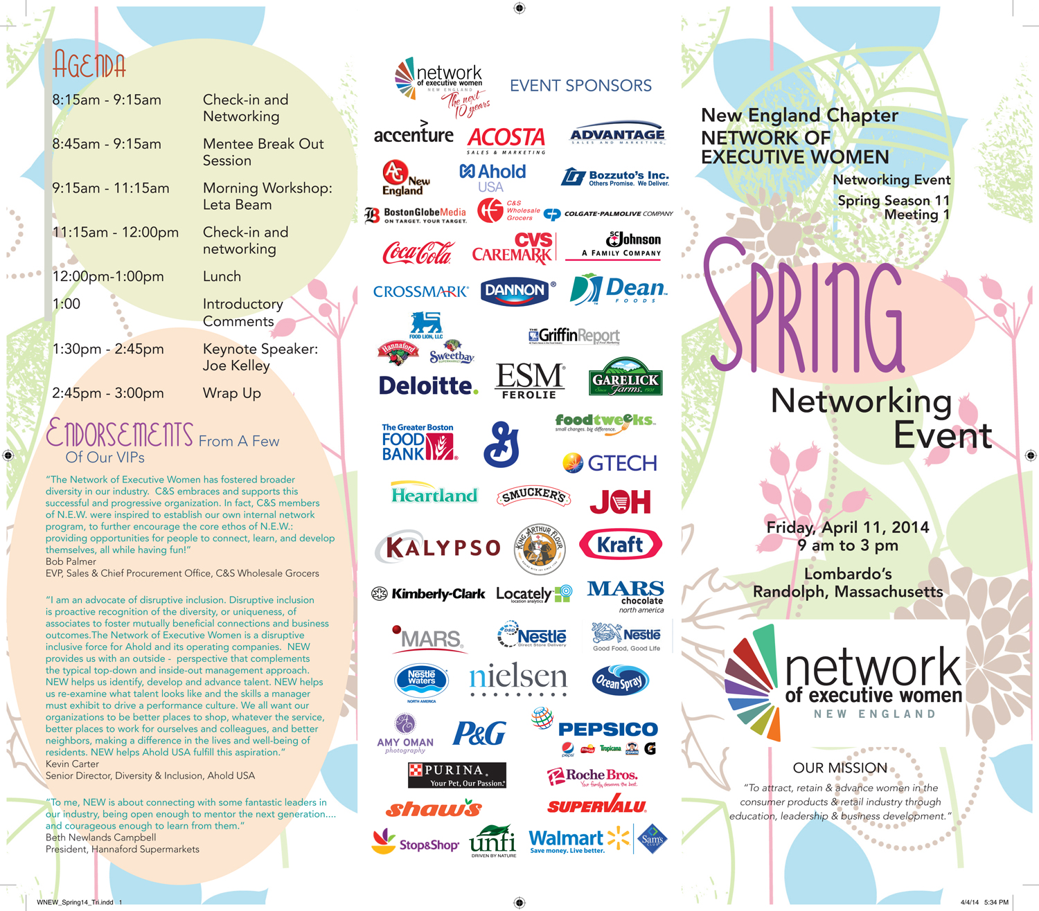 Network of Executive Women Spring Brochure